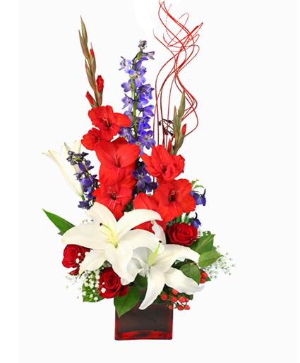 Patriotic Floral Arrangement